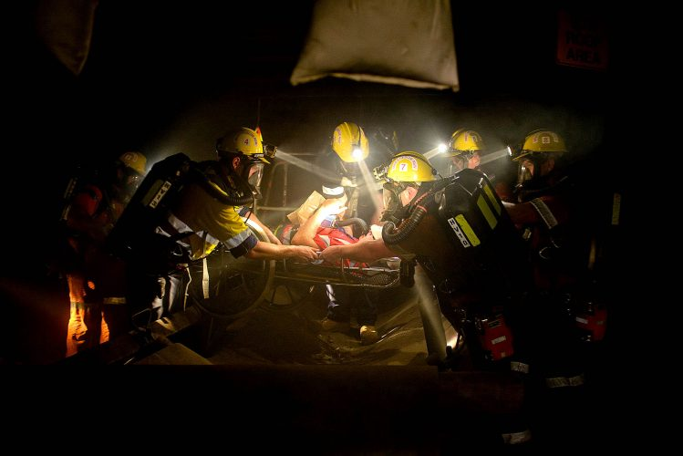 Underground Mine Rescue Photographer