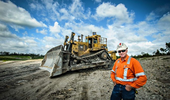 portrait of Plant Operator Hunter Valley Coal Mine Singleton