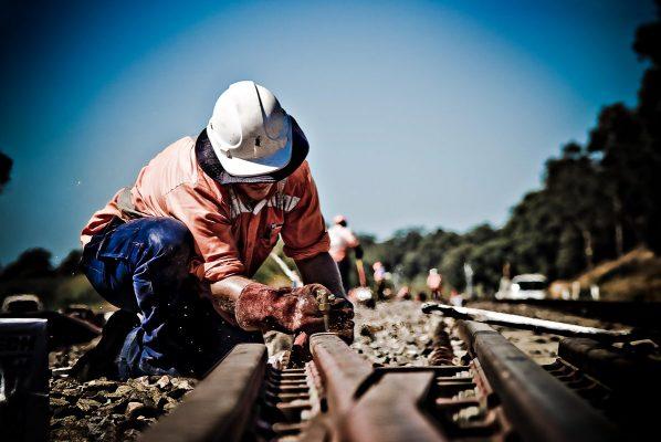 Portrait of Autralian Rail track worker